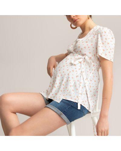 Блузка из вискозы для беременных с запахом Laredoute