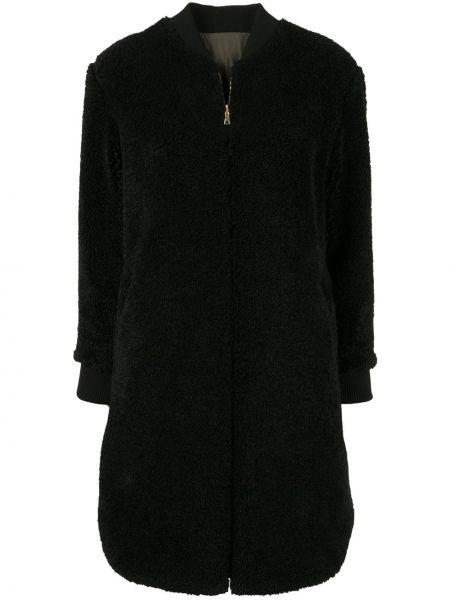 Прямая черная длинная куртка двусторонняя Guild Prime