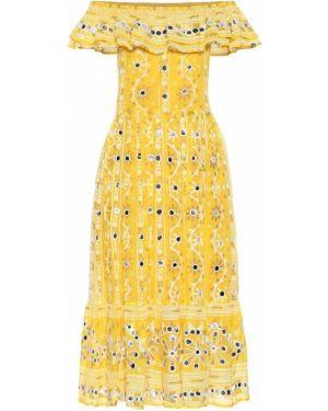 Летнее платье с завышенной талией из штапеля Juliet Dunn