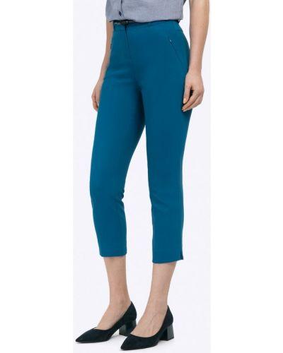 Бирюзовые зауженные брюки Emka