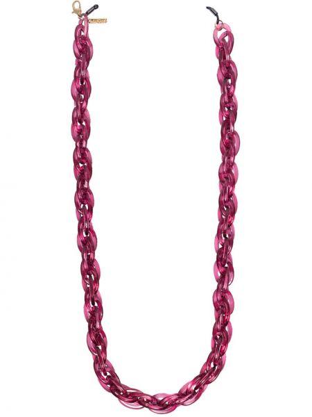 Акриловая розовая цепочка с подвесками Kaleos