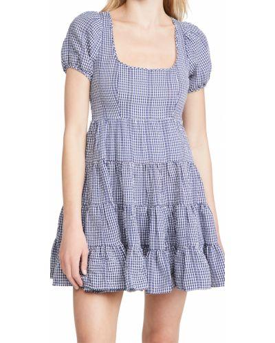Платье мини короткое - белое Likely