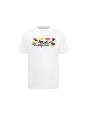 Белая футболка с короткими рукавами Palm Angels