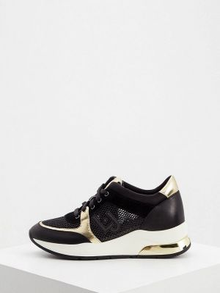 Кроссовки из искусственной кожи черные Liu Jo