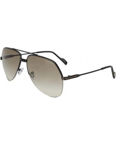 Солнцезащитные очки черные двойные Tom Ford