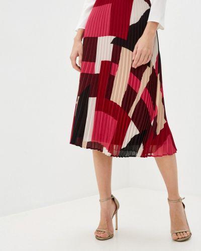 Плиссированная бордовая плиссированная юбка Iblues