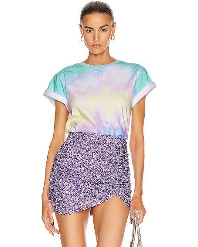 T-shirt bawełniany koronkowy sznurowany Retrofete