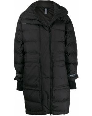 Черный длинное пальто Adidas By Stella Mccartney
