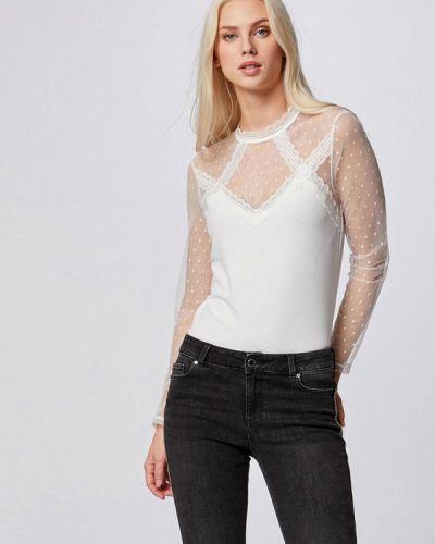 С рукавами белая блузка Morgan