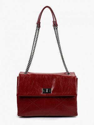 Кожаная бордовая сумка через плечо Thomas Munz