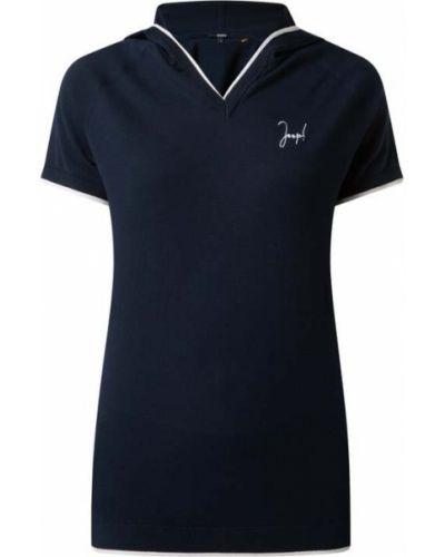 Niebieska bluzka z kapturem krótki rękaw Joop! Bodywear