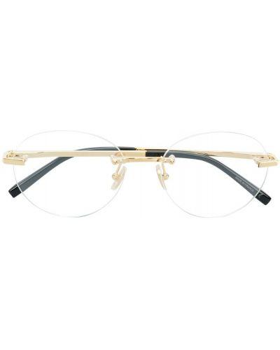 Очки круглые металлические хаки Boucheron Eyewear