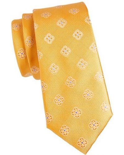 Шелковый желтый медальон Canali