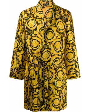 Długi szlafrok - żółty Versace
