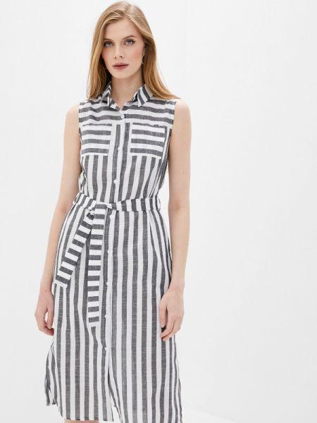 Платье платье-рубашка серое Imocean
