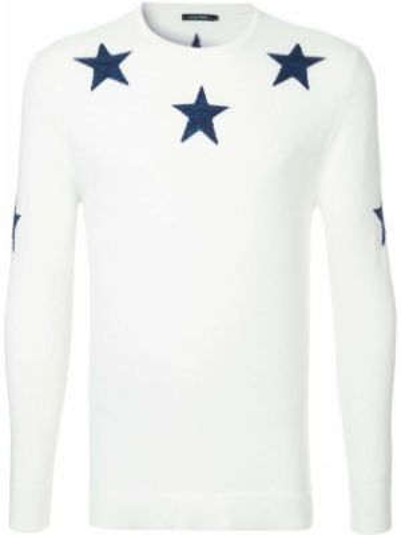 Вязаный белый акриловый свитер в рубчик Guild Prime