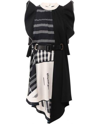 Платье с поясом Self-portrait