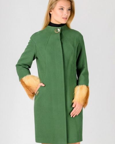 Зеленое зимнее пальто Raslov