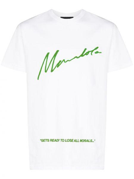 Zielony t-shirt bawełniany z printem Mowalola