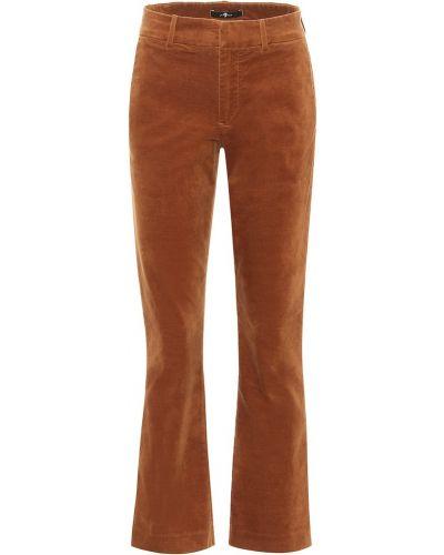 Ватные бархатные коричневые брюки 7 For All Mankind