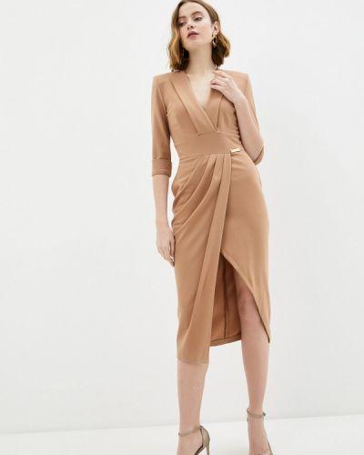Бежевое платье с запахом Rich & Naked
