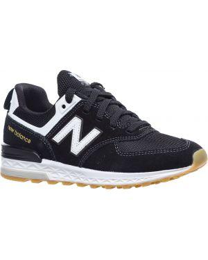 Кожаные кроссовки - синие New Balance
