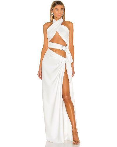 Пляжное шелковое белое платье макси Bronx And Banco