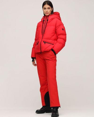 Красные брюки на молнии с пряжкой Moncler Grenoble