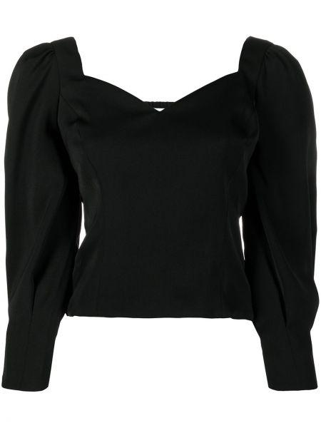 Черная с рукавами блузка с вырезом Ba&sh