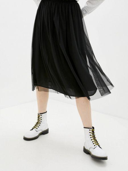 Черная джинсовая юбка свободного кроя Calvin Klein Jeans