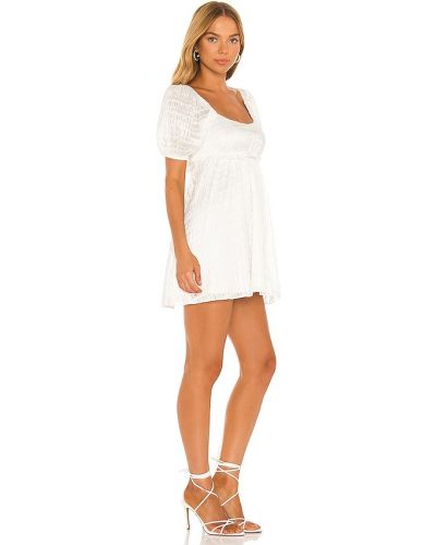 Biała sukienka mini elegancka Majorelle