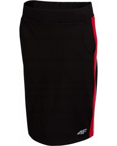 Spódnica ołówkowa dresowa - czarna 4f