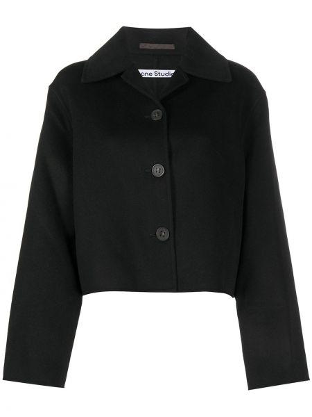 Вязаный шерстяной черный классический пиджак Acne Studios