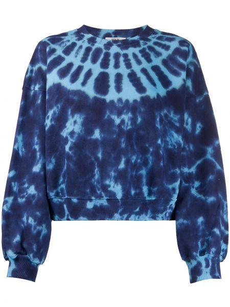 Bawełna bawełna niebieski bluza z mankietami Agolde