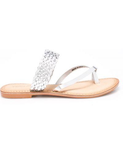 Сандалии кожаный серебряного цвета Vero Moda