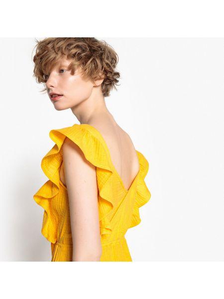 Платье мини с V-образным вырезом с оборками Mademoiselle R