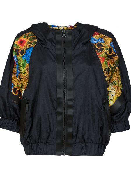 Черная куртка двусторонняя на молнии Versace Jeans Couture