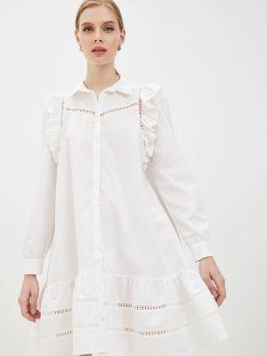 Белое платье-рубашка Rinascimento