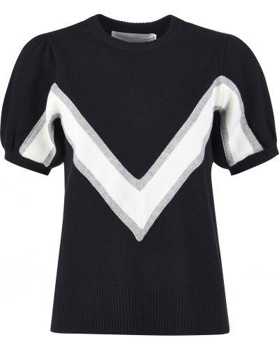 Шерстяная футболка - черная Victoria Beckham