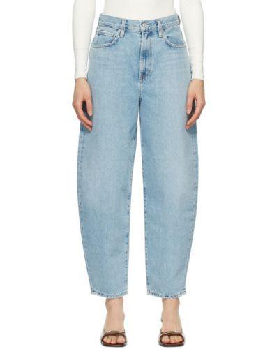 Niebieski jeansy z kieszeniami Agolde