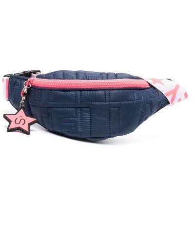 Синяя стеганая поясная сумка на молнии Stella Mccartney Kids