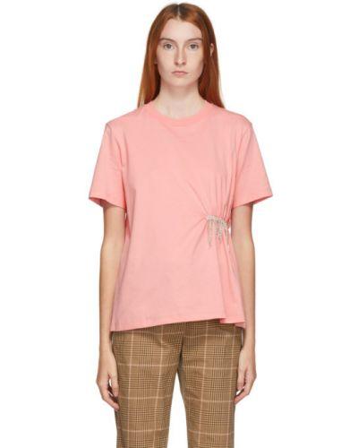 Bawełna brzoskwinia koszula z krótkim rękawem z kołnierzem krótkie rękawy Msgm