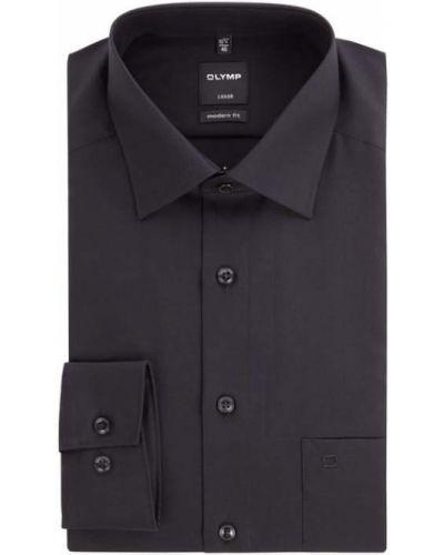 Czarna koszula bawełniana Olymp