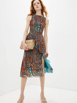 Коричневое повседневное платье Fuzzi