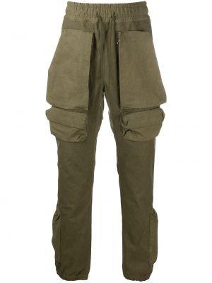 Prosto zielony bawełna bawełna spodnie o prostym kroju Readymade