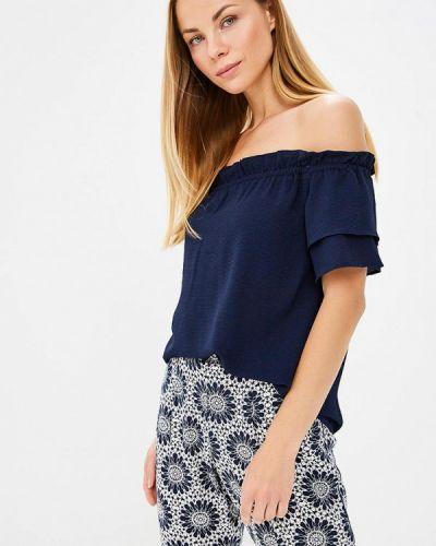 Блузка с открытыми плечами синяя Dorothy Perkins