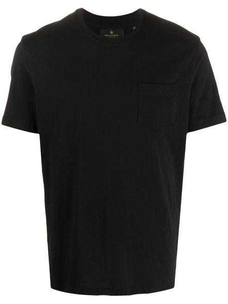 Bawełna czarny koszula krótkie z krótkim rękawem z kieszeniami z łatami Belstaff