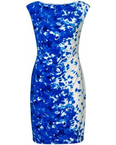 Синее платье приталенное Ralph Lauren