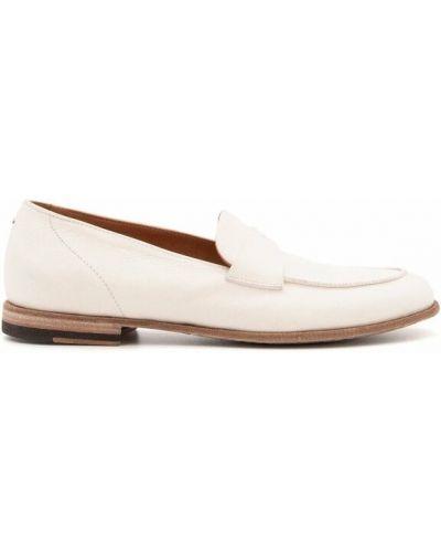 Białe loafers Pantanetti