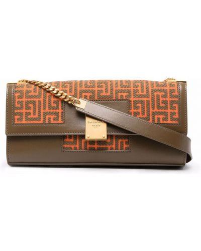 Złota kopertówka - pomarańczowa Balmain